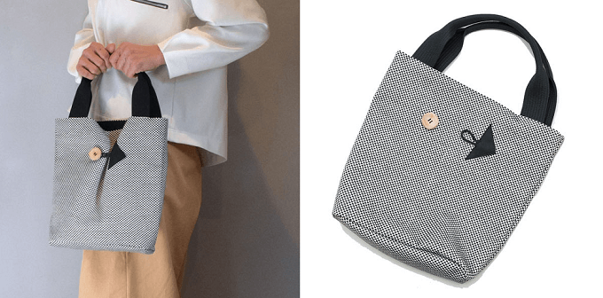 軽くて丈夫、柔道着の素材で作った「sasicco」のトートバッグ「ポイントバッグ」