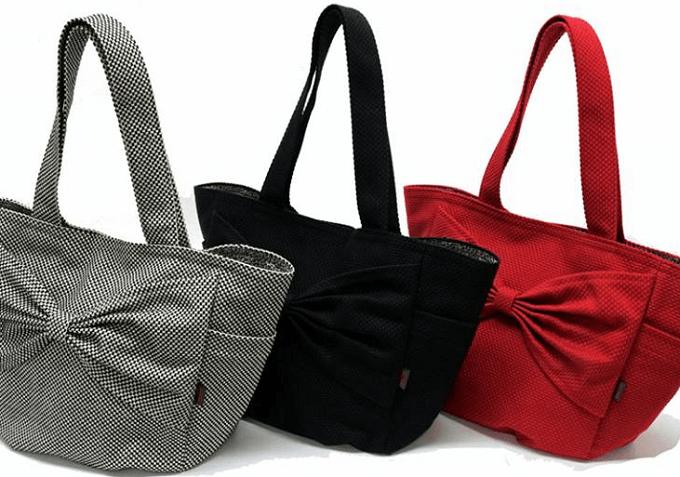 軽くて丈夫、柔道着の素材で作った「sasicco」のトートバッグ3色