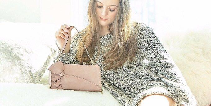 大人女子におすすめ、おしゃれな「ミライズ」のピンクのポシェット財布