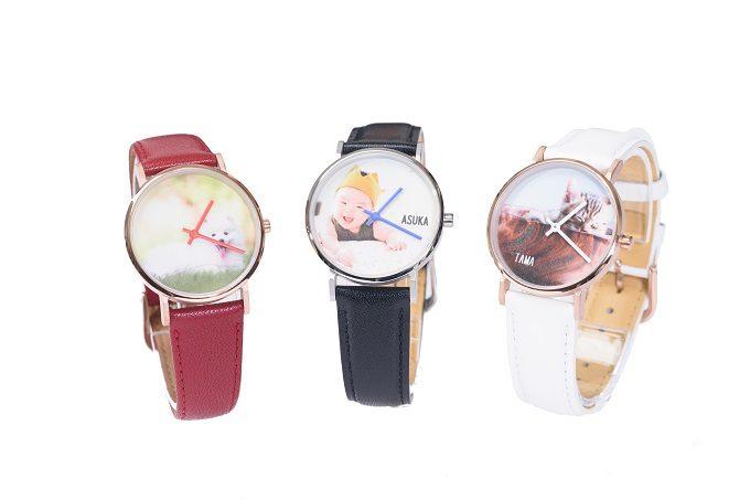 好きな写真を文字盤にできる腕時計、オーダー例