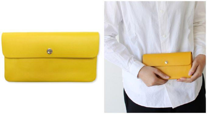 大人の女性におすすめの「STANDARD SUPPLY スタンダードサプライ」の黄色の長財布