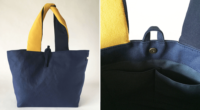「MIN BAGGAGE(ミンバゲッジ)」のトートバッグ「twist tote」