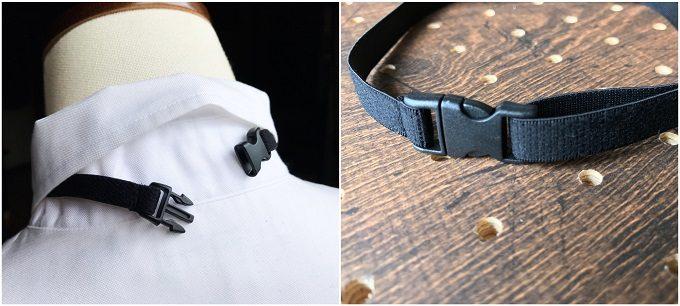 男性へのギフトにおすすめの「wood chocolate」の木の蝶ネクタイ、装着金具