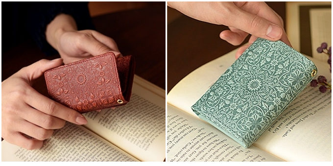 「HIRAMEKI.」の型押しが美しい革小物シリーズ