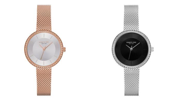 「KENNETH COLE」の上品な腕時計、メッシュベルトのレディースモデル