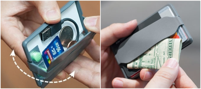 小物や名刺入れにもなるミニ財布「Keri wallet」の使用方法