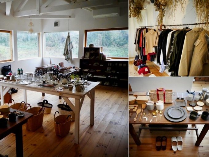糸島の「おやつと雑貨、くらすこと」で取り扱われている服や雑貨