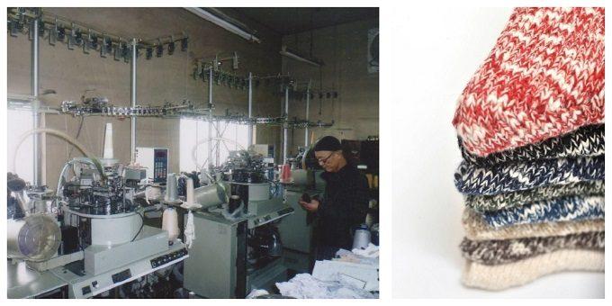 「mauna kea(マウナ・ケア)」の工場、編み機