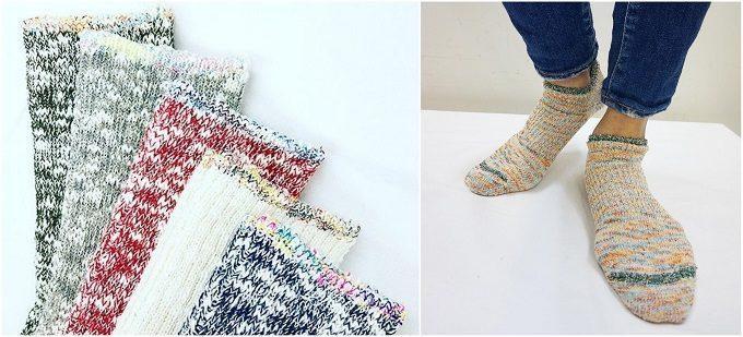 ブーツの蒸れ解消におすすめの「mauna kea(マウナ・ケア)」の無地の靴下