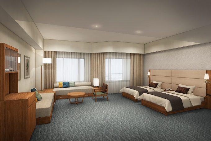 「裏磐梯(うらばんだい)グランデコ東急ホテル」のリニューアルしたばかりの客室