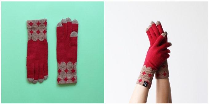 大人女子におすすめの「%」のおしゃれなドット柄の手袋