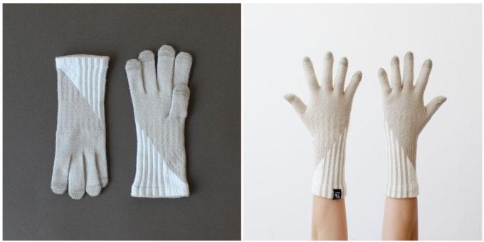大人女子におすすめの「%」のおしゃれなストライプ柄の手袋