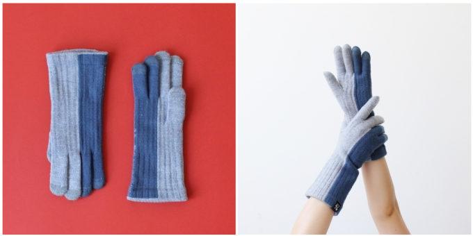 大人女子におすすめの「%」のおしゃれなブルートーンの手袋