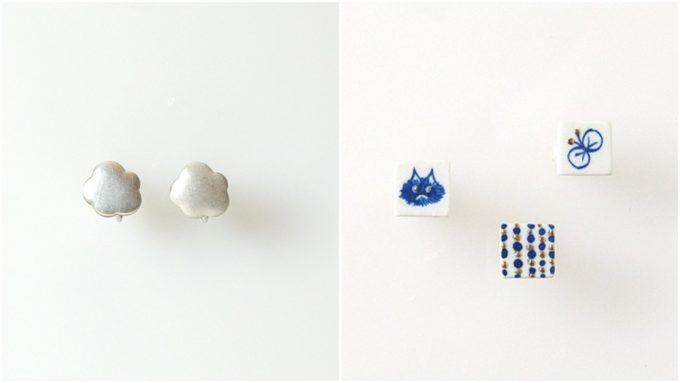 七窯社の「やきものアクセサリー」、雲や猫のモチーフ