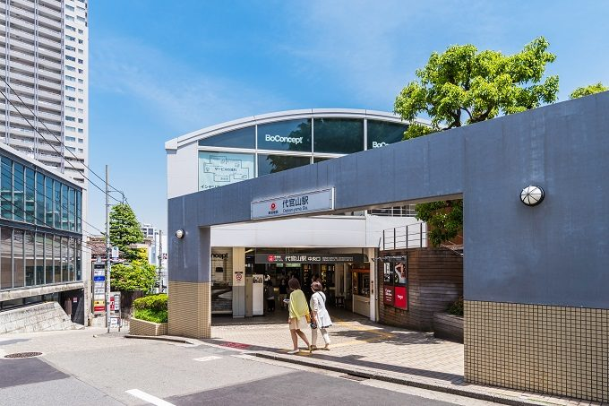 代官山駅の外観
