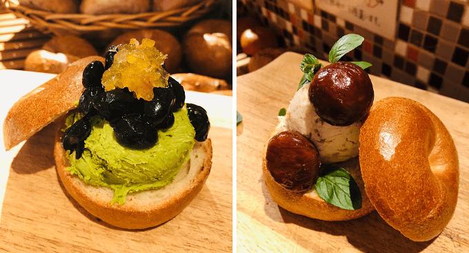 「tecona bagel works」のベーグルのスペシャルサンド2種類