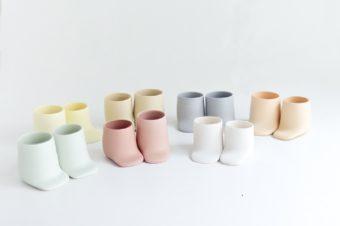 赤ちゃんの靴のような愛らしさ。「mushimegane books.」のユニークな器