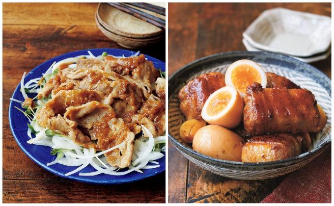 カロリーカットした「しょうが焼き」と「豚の角煮」