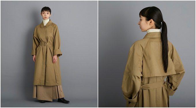 大人女子におすすめ「foufou(フーフー)」のステンカラーコート