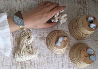 ひび割れもデザインの一部。独特の表情に惹かれる「honopottery」の陶器のバングル