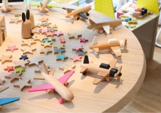 様々な「kiko+」の木製おもちゃ