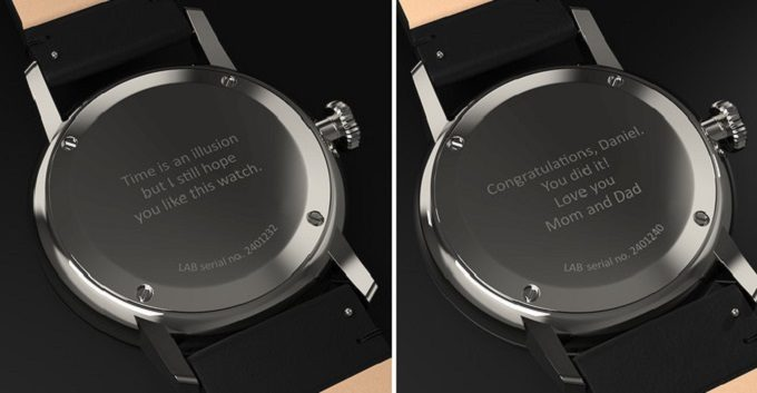 オリジナルの刻印を入れられる北欧発の腕時計「LAB(ラボ)」