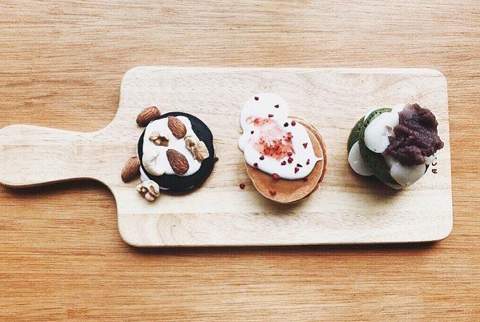 日本茶スタンド「美濃加茂茶舗」のおすすめメニュー、お菓子
