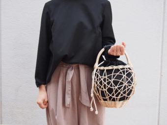 季節を問わず使いたい。リネンやファー素材を組み合わせた「m.snow」のカゴバッグ