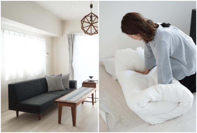 ベッドとソファを兼ねたオーダーメイドのデイベッド