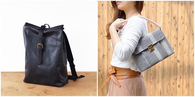 TAKEYARIの帆布を使った特徴的なバッグ