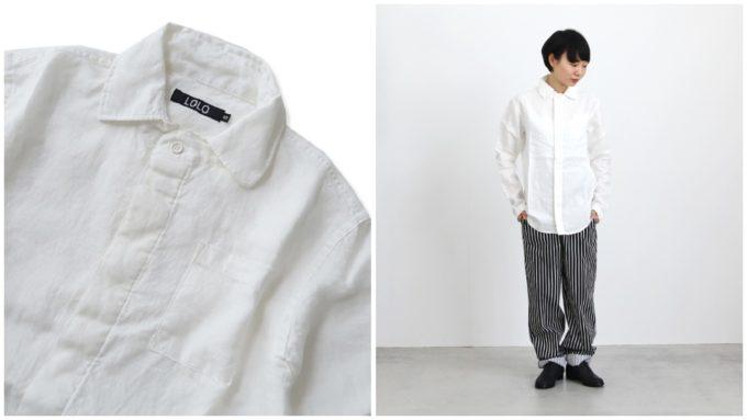 春におすすめの「LOLO ロロ」のリネンシャツ