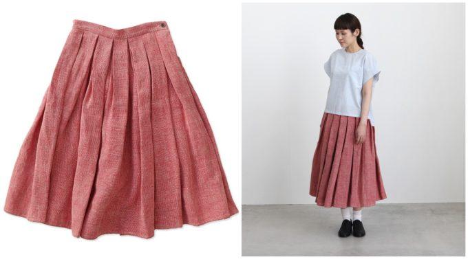 春におすすめ、「OLDMANS TAILOR オールドマンズテーラー」の大人かわいいロングスカート