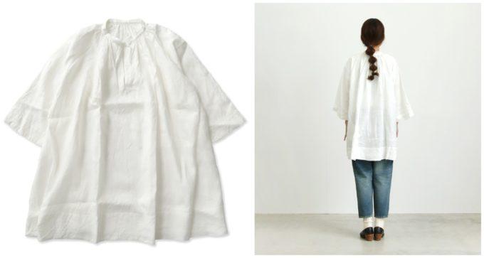 春におすすめの「UNIVERSAL TISSU ユニヴァーサルティシュ」のリネンシャツ