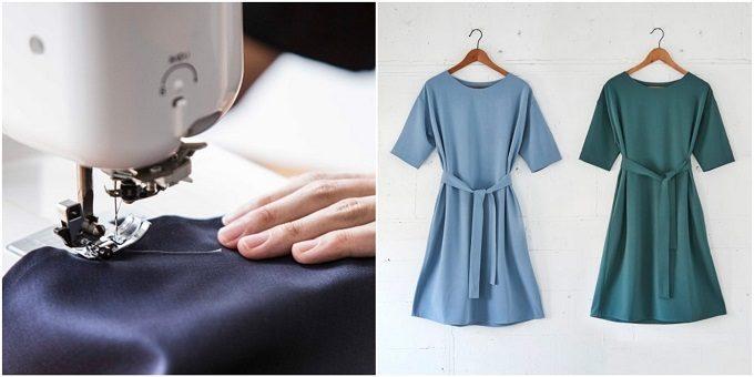 働く女性におすすめの「Kilka」の服を縫製している様子