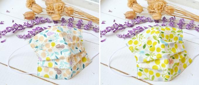 花粉対策におすすめ、「TEMARIYA」の可愛い柄のガーゼマスク、ボタニカル柄