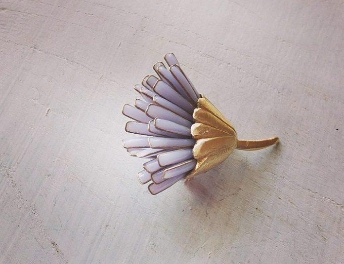 「glass accessory tubu」のガラスと金属を使ったアクセサリー