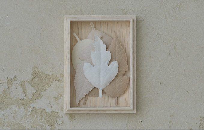 和紙で作られた葉っぱの形のお香「HA KO」2