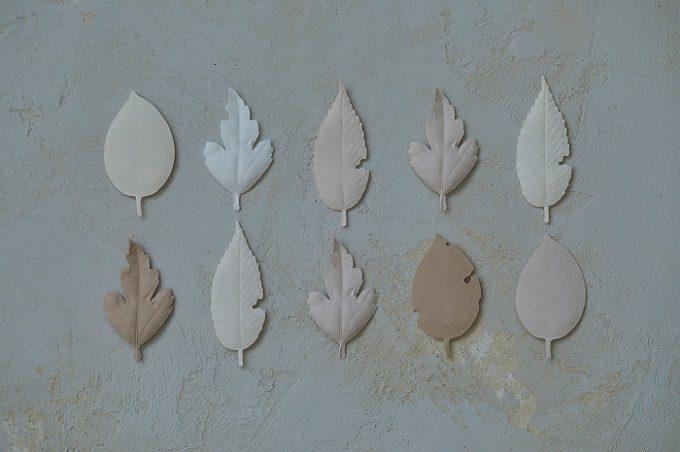 和紙で作られた葉っぱの形のお香「HA KO」、バリエーション