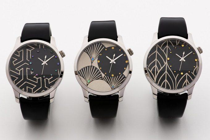 越前漆器の蒔絵で和モダンな模様を描いた「IGATTA COLLETTI(イガッタコレッティ)」の腕時計