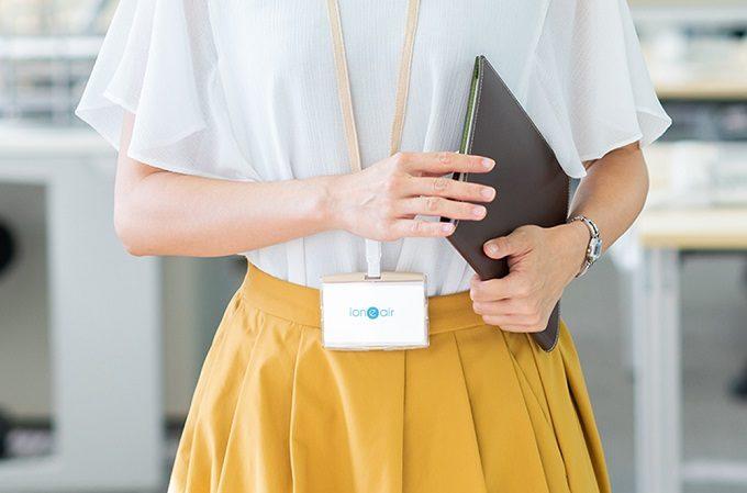 カード型の空気清浄器「イオニアカード」2