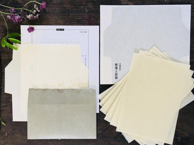 「紙漉思考室」の手すき和紙を使った便箋