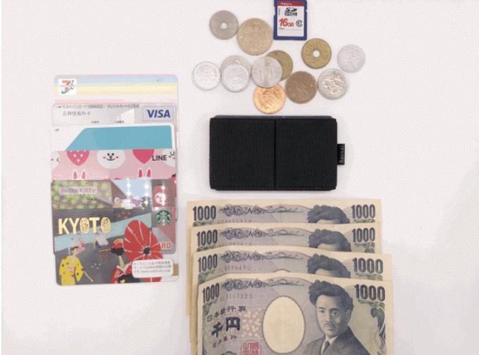 小さくて軽いのに容量たっぷりのミニ財布「ニルウォレット」、収納できる量
