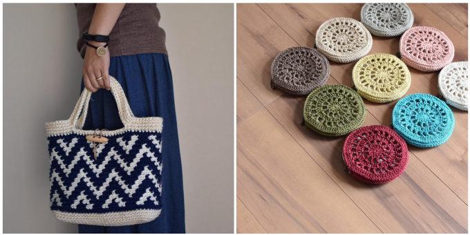 「SORA16」の手作りされた編み物の小物