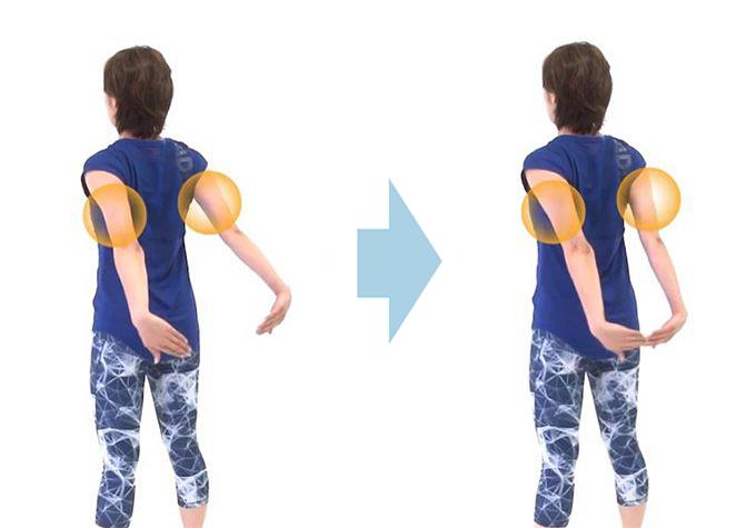 背中引き締めに効果的なエクササイズ「肩甲骨パタパタ」