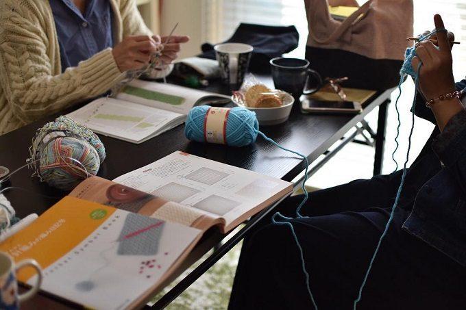 編み物教室「SORA16 KNIT STUDIO」の様子