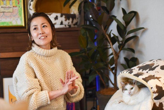 デザイナー・山岸彩さんと愛猫2