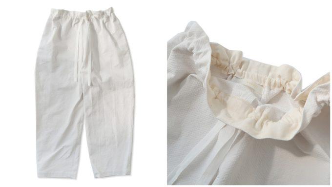 大人女子におすすめ、「susuri ススリ」の下半身スッキリ見える白パンツ