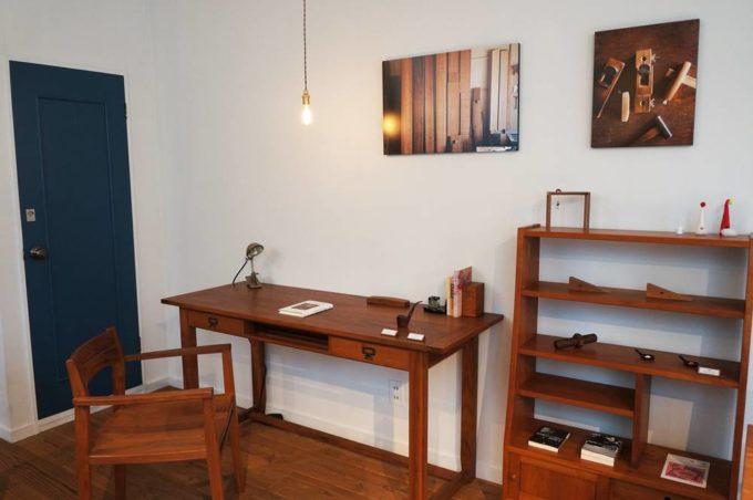 清澄白河のオーダー家具のショールーム「アオゾラカグシキ會社」店内写真