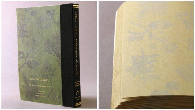 本のようなデザインの「ラフノート」、「ボタニカル」