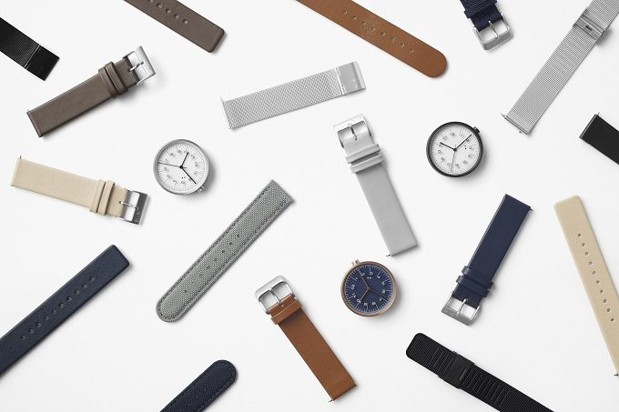 ベルトを付け替えられる「10:10 BY NENDO」の定規のようなデザインの腕時計